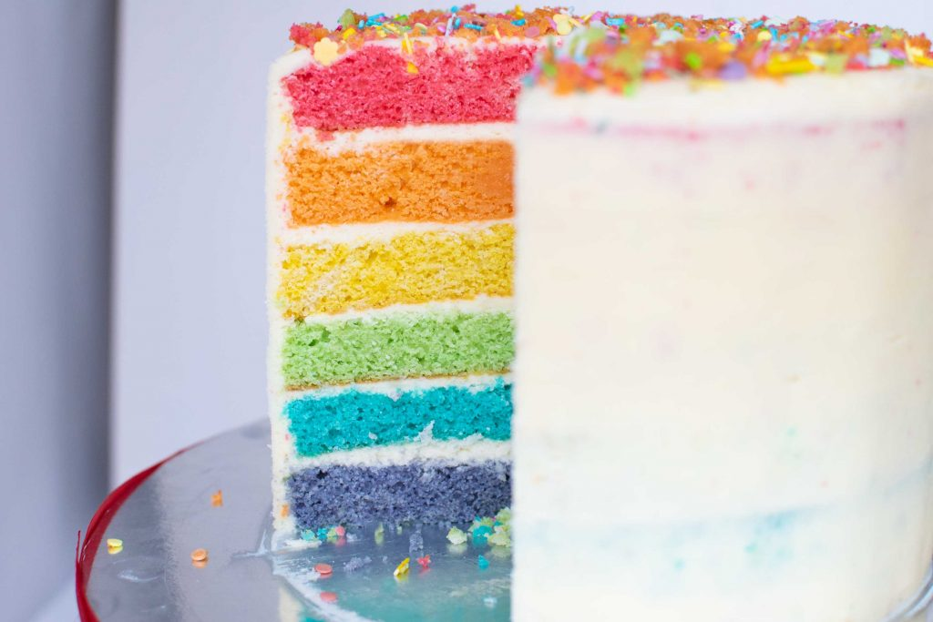 how to make a rainbow cake