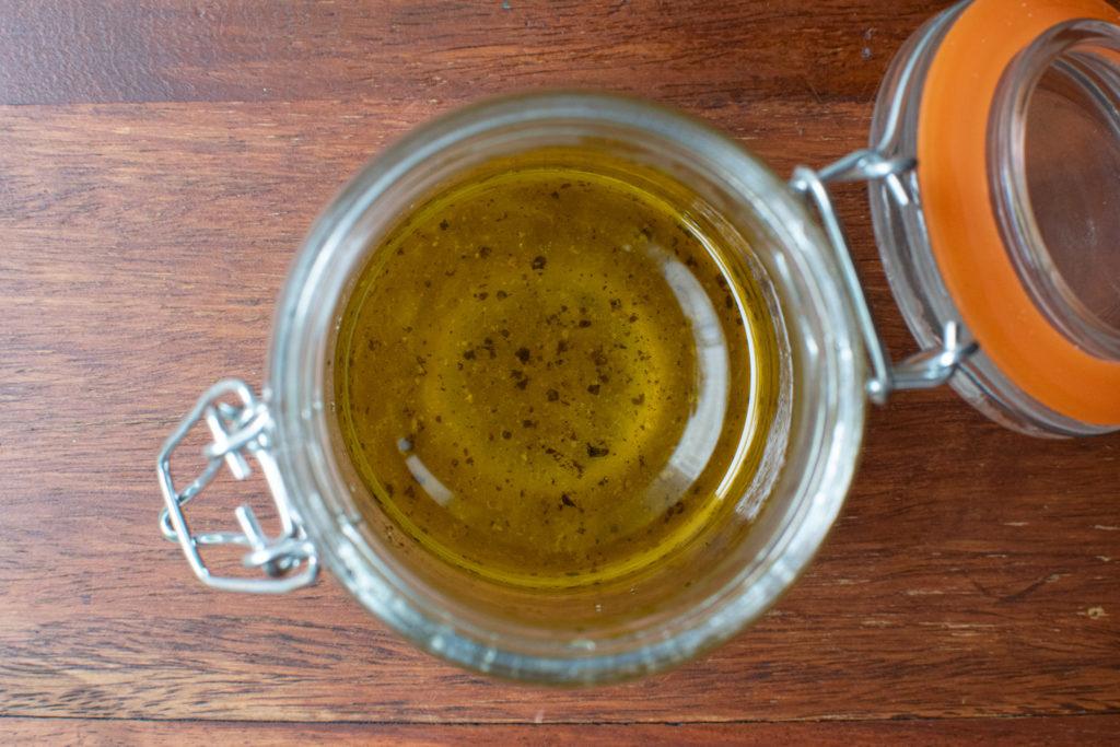 honey, lemon and olive oil dressing