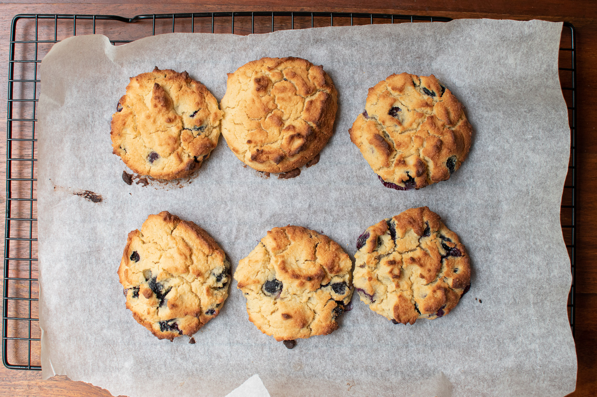 healthy blueberry scones cooked