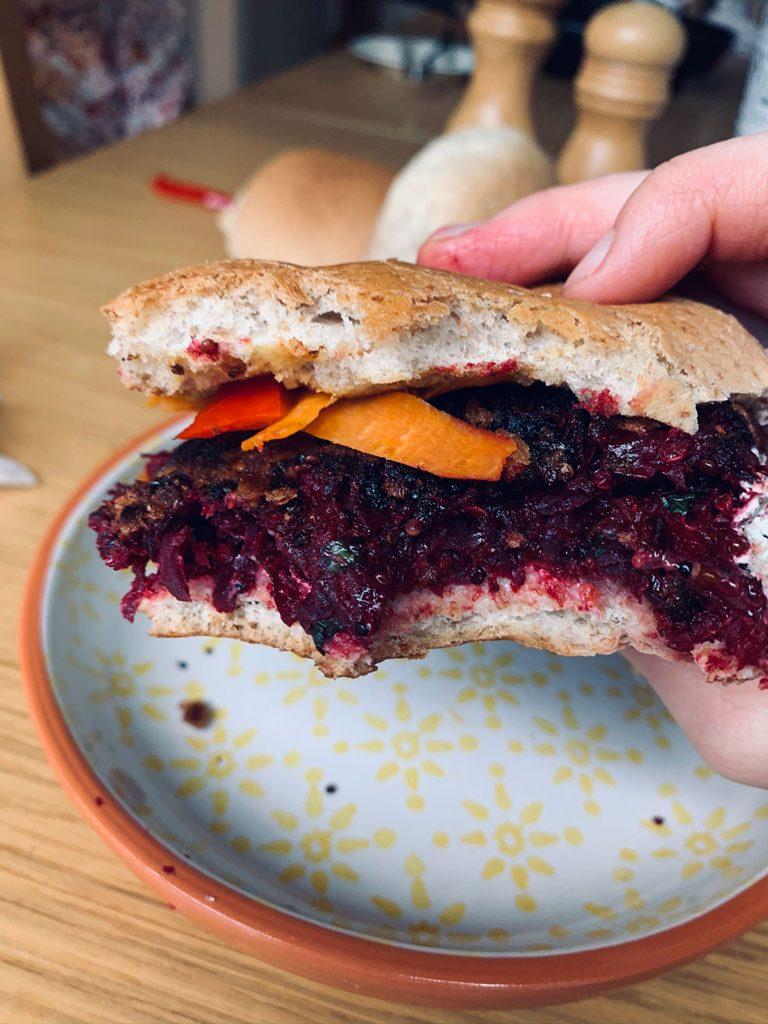 Vegan Beetroot & Quinoa Burger