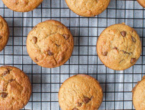 Healthier Chocolate Chip Muffins