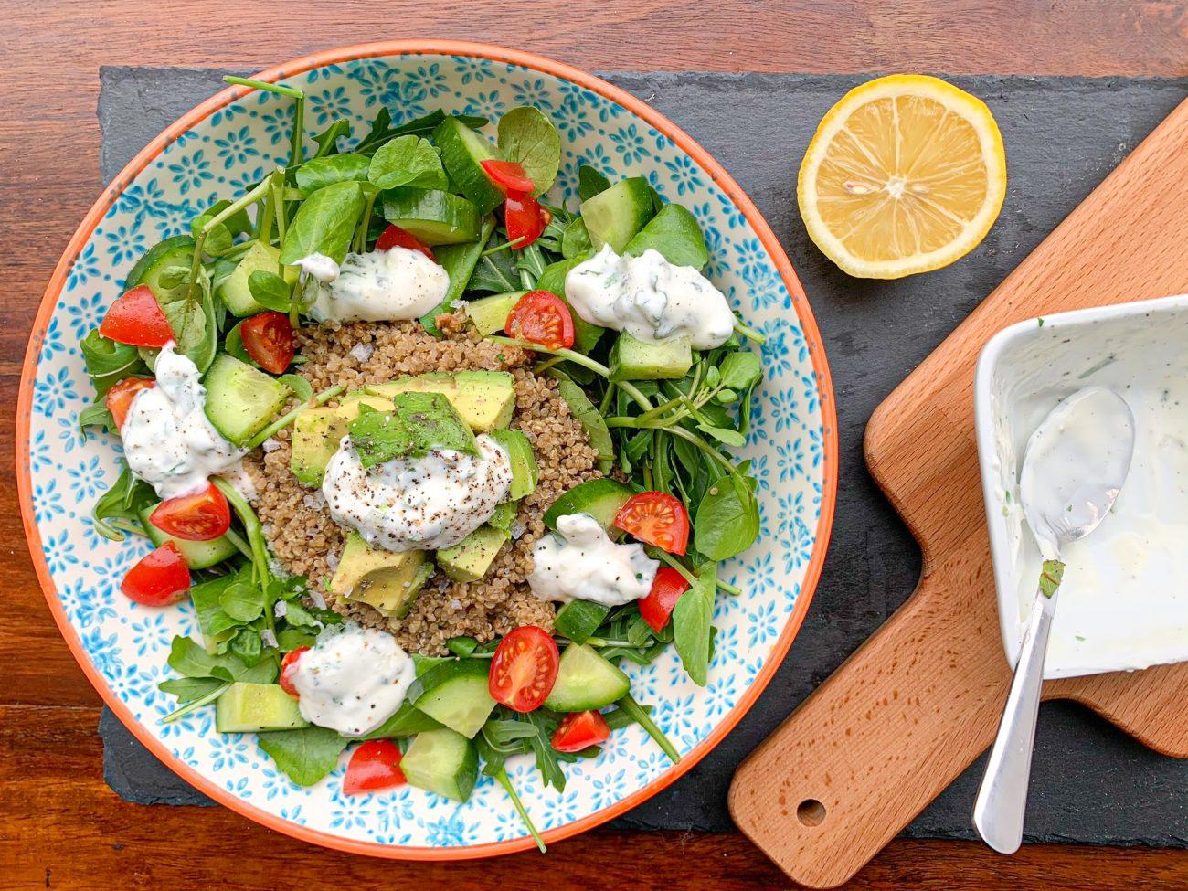Super Green Quinoa Salad