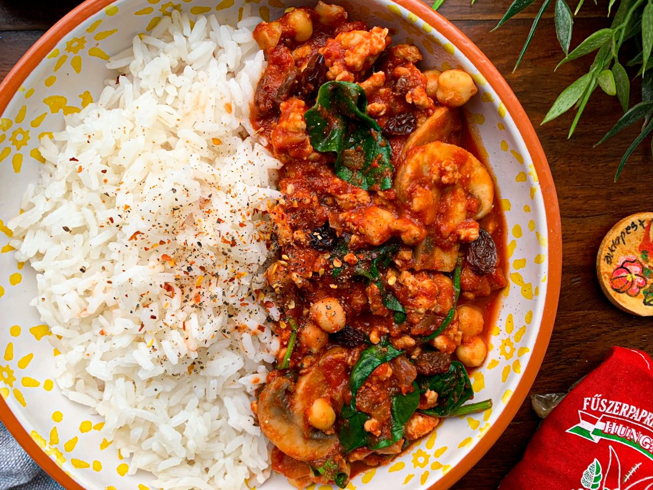 Moroccan Chickpea and Turkey Curry